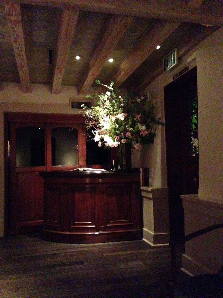 A bad cell phone shot of The French Laundry's entrance